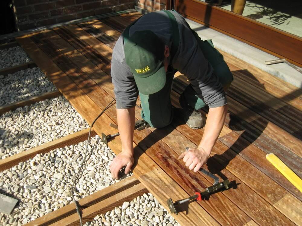 Der Bau von Holzterrassen