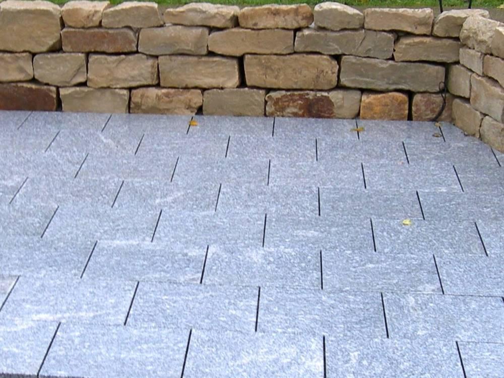 Natursteinmauer Sitzplatz : Natursteinplatten Galabau Mähler ...
