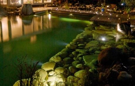 Lichtleitfaser Schwimmteich