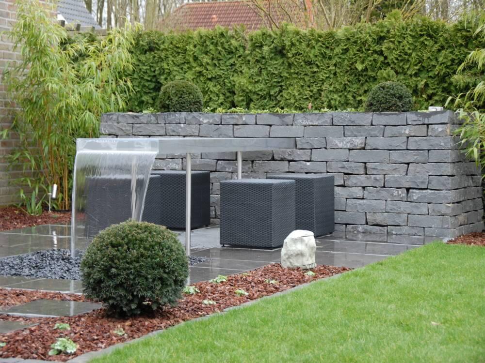 natursteinmauer wassertisch traumgarten. Black Bedroom Furniture Sets. Home Design Ideas