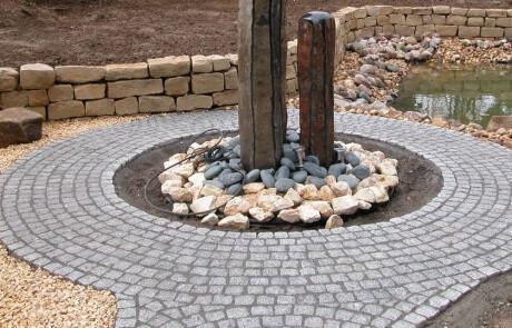 Granit Natursteinpflaster mit fester Fuge