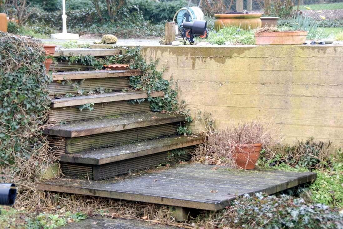 Stufen Bongossi Holz