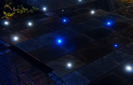 Terrasse mit LED Beleuchtung