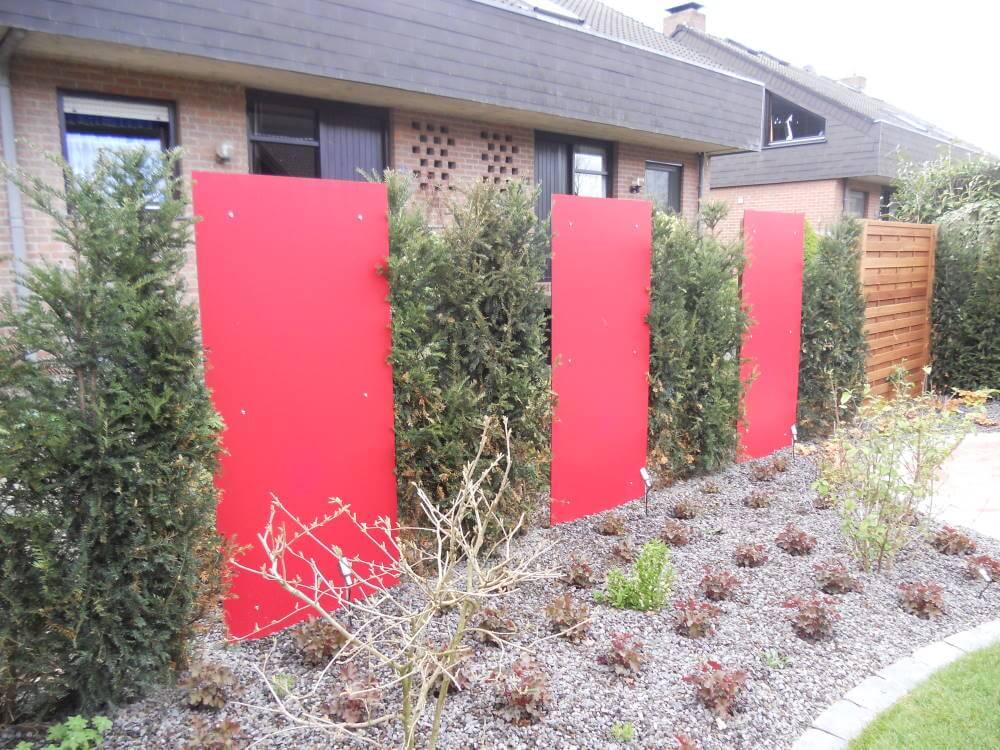 rote Resopalplatten Garten
