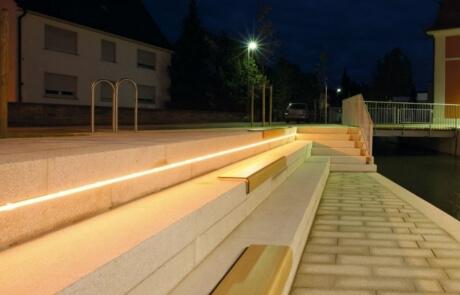 Lichtband Treppenstufen